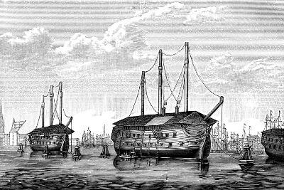 Danish Prison-Ships 'Dronning Maria' and 'Waldemar, Copenhagen, 1848-1849