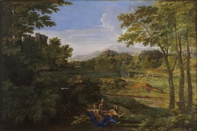Landscape with Two Nymphs and a Snake, Ca 1659