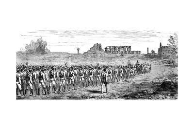 Egyptian Troops at Karnak, Egypt 1889
