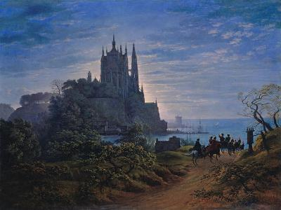 Gothic Church on a Rock by the Sea, 1815