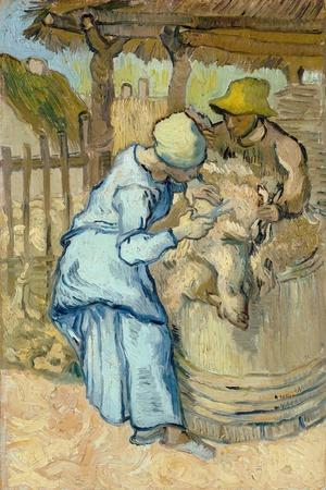 The Sheep-Shearer (After Mille), 1889