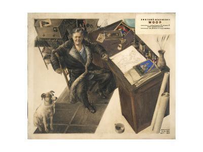 Dmitry Moor in His Studio, 1934-1935