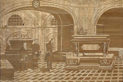 Emperor Nicholas I at the Coffin of Emperor Francis I of Austria, Ca 1835