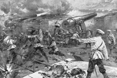 Russian Battery in Action, Russo-Japanese War, 1904-5