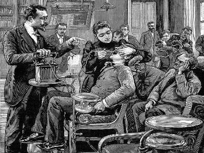 Clinic at the School of Dentistry, Paris, 1892
