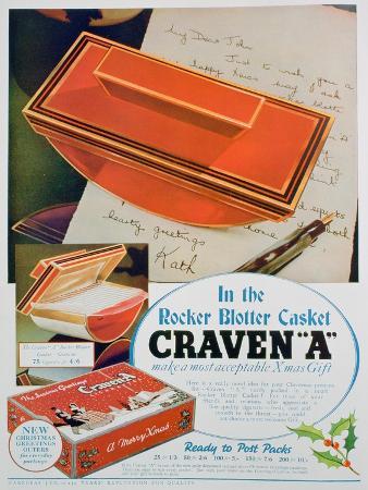Advert for Craven 'A' Cigarettes, 1936