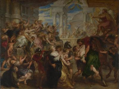 The Rape of the Sabine Women, Ca 1637-1640