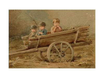 Children in a Telega, 1882