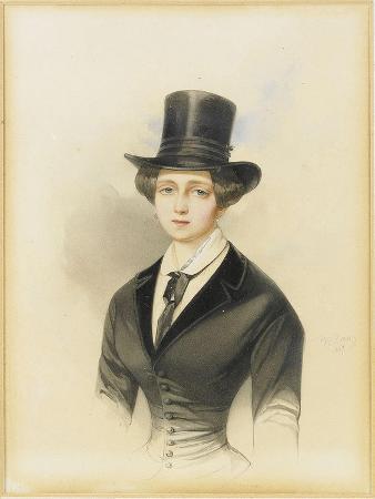 Portrait of Grand Duchess Catherine Mikhailovna of Russia (1827-189), 1847