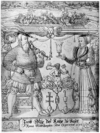 Jacob Wyx of Basel and His Wife Anna, 1592