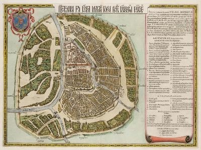 The Moscow Kremlin Map of the 16th Century (Castellum Urbis Moskva), 1662