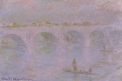 Waterloo Bridge in London, 1902