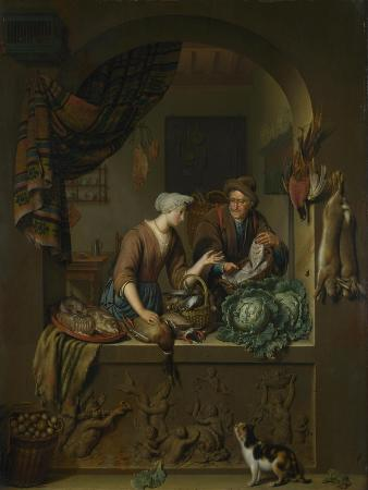 A Woman and a Fish-Pedlar in a Kitchen, 1713