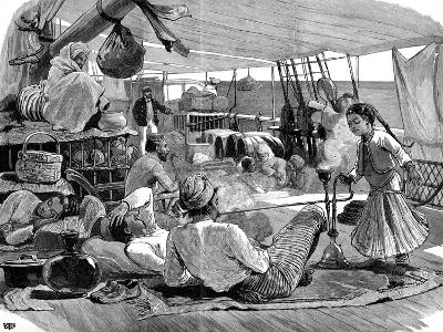 Third Class on Board the 'Kilwa, Brindisi to Burma, 1886