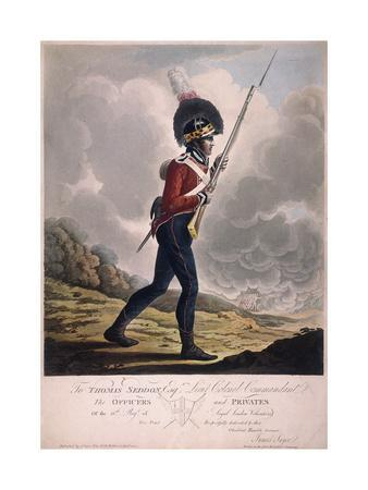 Military Figure in the Uniform of the Eleventh Regiment of the Loyal London Volunteers, 1804