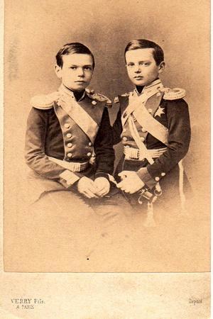 Portrait of Grand Dukes Vladimir Alexandrovich of Russia and Alexander Alexandrovitch of Russia