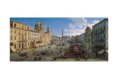 The Piazza Navona in Rome, 1699
