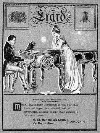 Advertisement for Erard Pianos, 1901