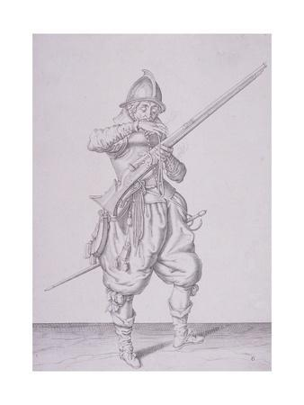 Figure in Military Clothing Holding a Musket and Wearing a Sword, 1607
