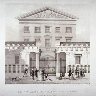 The National Provincial Bank at No 112 Bishopsgate Street, City of London, C1840