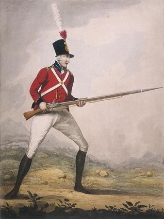 Military Figure in the Uniform of an Unidentified Volunteer Regiment, C1802
