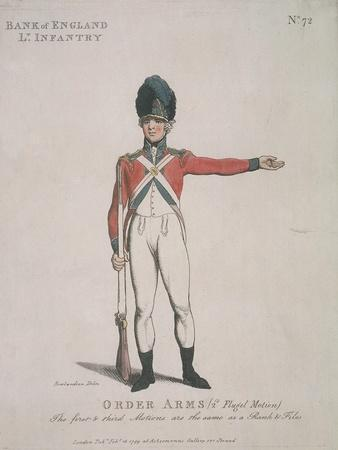 Member of the Bank of England Light Infantry Holding a Rifle, 1799