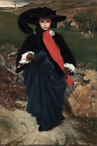 Frederick Leighton Portrait of May Sartoris Giclee Canvas Print  Poster