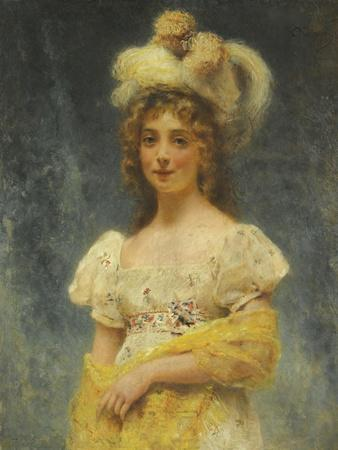 Portrait of a Lady in a Yellow Shawl