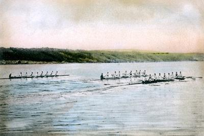 A Trial Spin of the Cornell Crews on Cayuga Lake, 1906