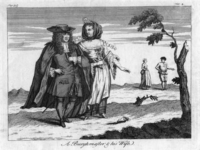 A Burghmaster and His Wife, C18th Century