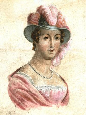 Portrait of a Woman in a Feathered Hat, C1750-1850