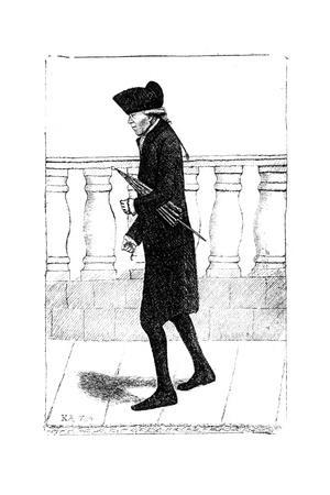 A Man Walking with an Umbrella under His Arm, 1784