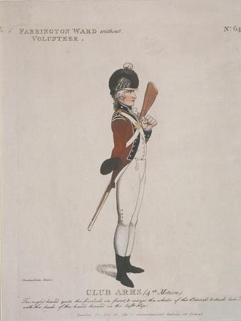 Farrington Ward Without Volunteer Holding a Rifle, 1798