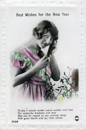 Best Wishes for the New Year, Greetings Card, C1920S