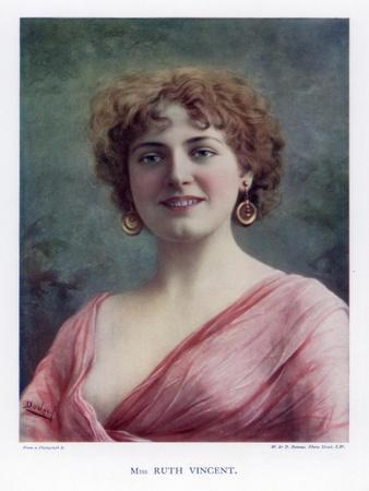Ruth Vincent, Actress and Singer, 1901