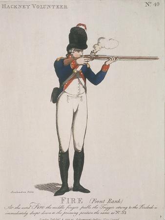 Hackney Volunteer Firing a Rifle, 1798