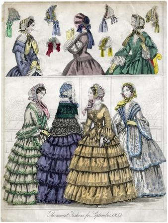 The Newest Fashion for September, 1854