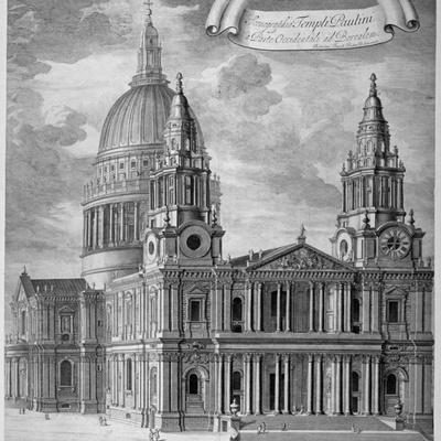 St Paul's Cathedral, City of London, C1715