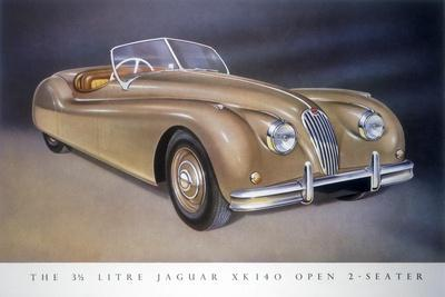 Poster Advertising a Jaguar Xk 140, 1954