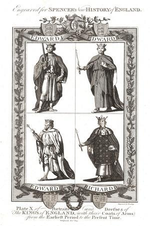 Portraits and Dresses of the Kings of England with Coats of Arms, 1784