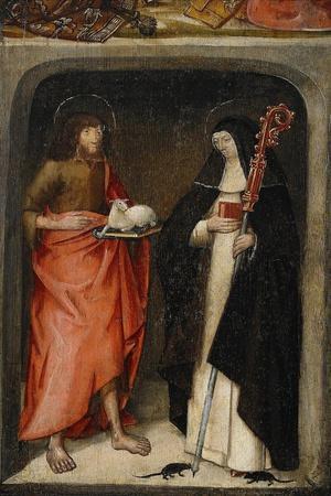 Saint John the Baptist and Saint Gertrude of Nivelles, 1480