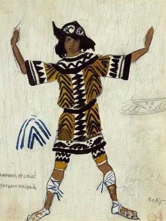 Costume Design for the Ballet Daphnis Et Chloé by M. Ravel, 1912
