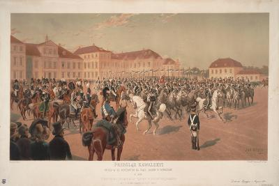 Grand Duke Constantine Pavlovich of Russia at Cavalry Review on the Saxon Square in Warsaw, 1824