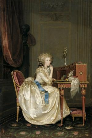 Portrait of Marie Louise of Savoy (1749-179), Princess of Lamballe