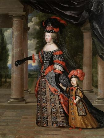 Maria Theresa of Spain with Her Son, the Dauphin, Louis of France