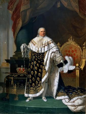 Portrait of Louis XVIII (1755-182) in Coronation Robes