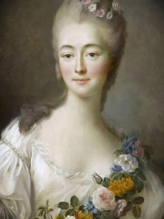 Jeanne Bécu, Comtesse Du Barry (1743-179) as Flora