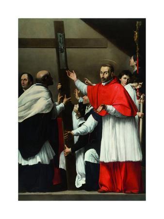 The Exaltation of the Holy Nail with Saint Charles Borromeo