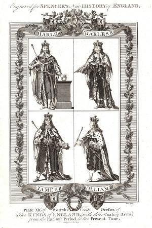 English Kings with Coats of Arms, 18th Century