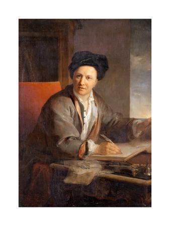 Portrait of the Author Bernard Le Bovier De Fontenelle (1657-175)